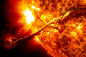 Large solar flare from sun drops radio signals on Earth